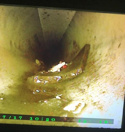 sewer pipe camera inspection Charlotte
